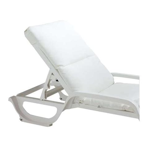 chaise grosfillex grosfillex 98230431 white contract chaise cushion