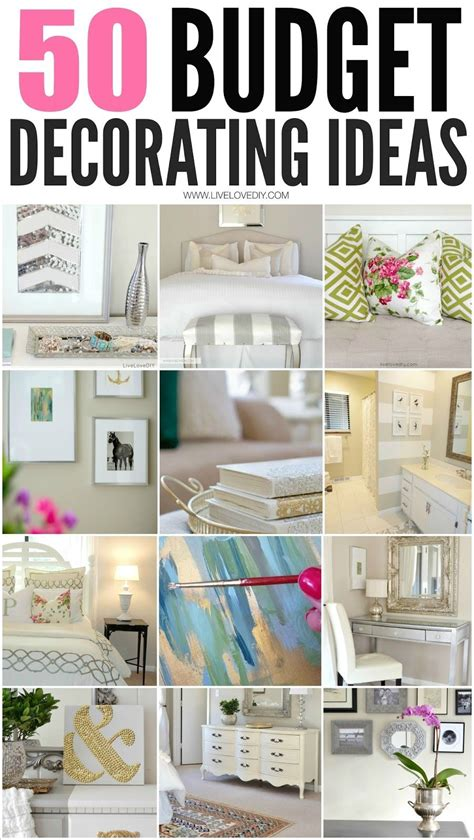 Decorating Ideas Cheap by 50 Budget Decorating Tips You Should Livelovediy