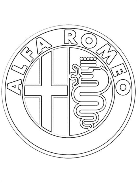 Kleurplaat Bayermunchen by Logo Alfa Romeo Kleurplaten Gratis Kleurplaten