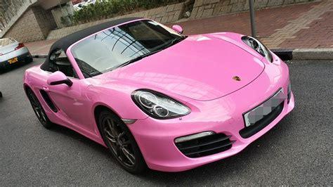 porsche boxster  wrapped  pink  hong kong customer autoevolution