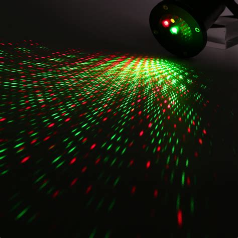 outdoor static dynamic firefly starry laser lawn light