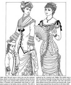 Victorian Fashion Coloring Pages