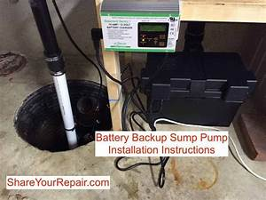 Battery Backup Sump Pump Installation Instructions