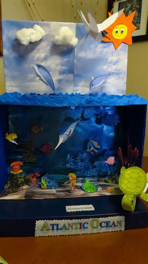 como hacer una maqueta oceano diorama oceano zarah lavariega mis proyectos