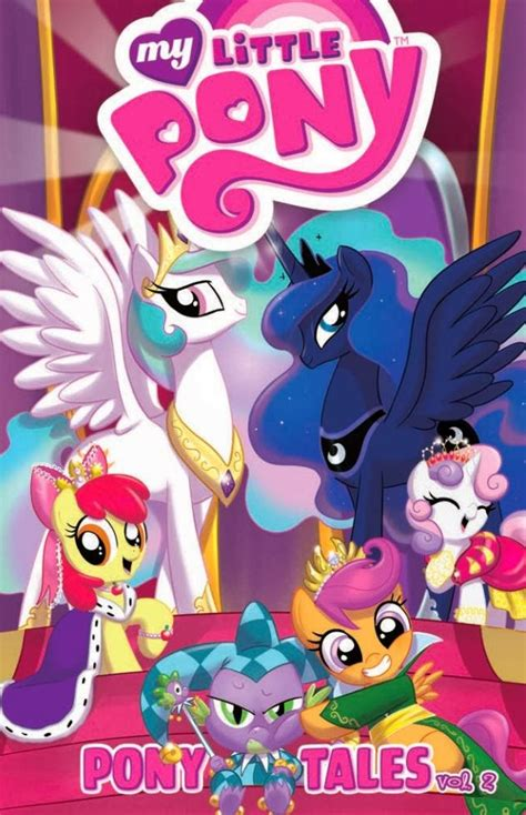 pony tales mlp comic vol spike books volume idw celestia comics luna princess friendship magic series issue cmc equestria covers