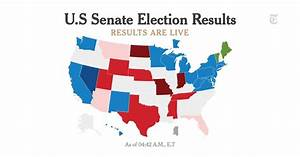 Live U.S. Senate Election Results - The New York Times