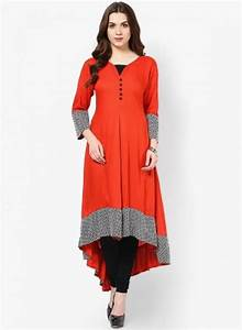 Ethnic For You Casual Party Self Design Women s Kurti Red