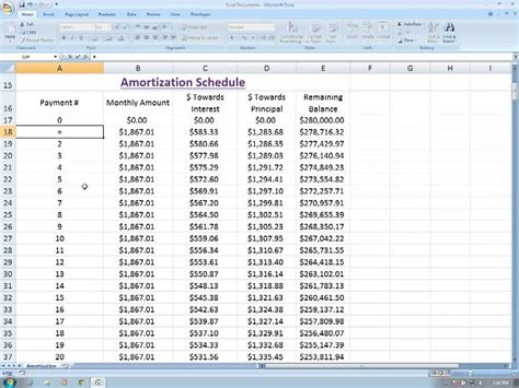 Amortization Table Excel - amortization in excel part 3 dynamic amortization