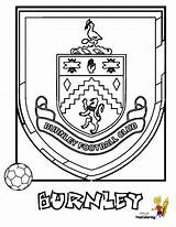 Soccer Football Burnley Colouring Fc Coloring Printables Explosive Yescoloring sketch template