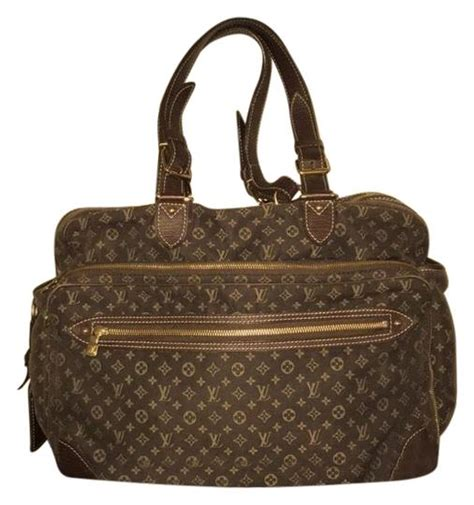 louis vuitton mini lin monogram brown gold canvas leather