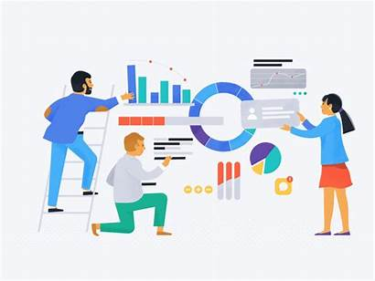 Business Analysis Market Data Hand Illustration Trends