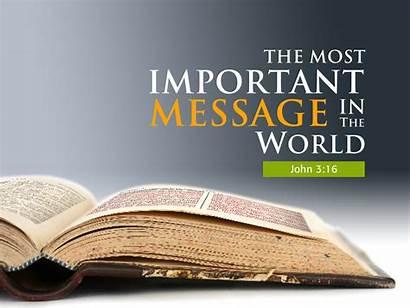Message Gospel Church Powerpoint Faith Christ John
