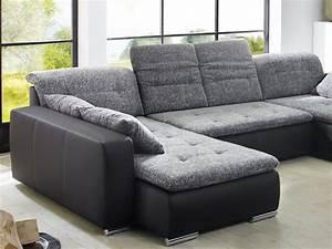 Sofa Kunstleder Schwarz : sofa couch ferun 365x200 185cm webstoff anthrazit kunstleder schwarz kaufen bei vbbv gmbh ~ Orissabook.com Haus und Dekorationen