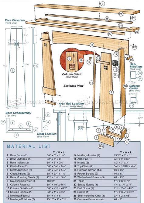 fireplace mantel plans woodarchivist