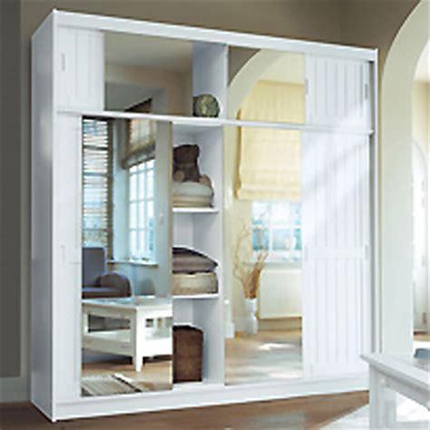 armoire 4 portes surmeuble miroir kensington blanc