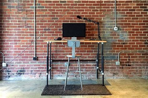 how to build a pipe l 37 diy standing desks built with pipe and kee kl