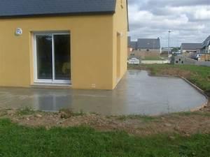 Terrasse Avec Muret : terrasse beton avec muret nos conseils ~ Premium-room.com Idées de Décoration