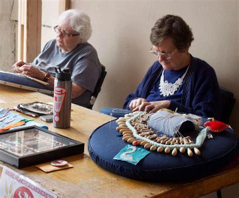 bobbin lace making demonstration national czech slovak