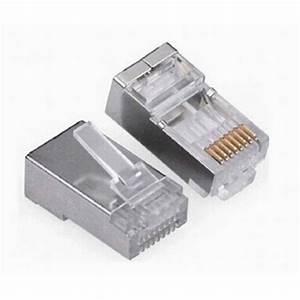 20 Pieces Metal Shielded Rj45 Plug Connector Ftp 8p8c