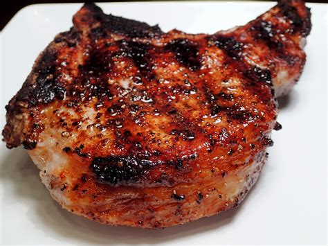 grilled pork chops grilled pork chop cooking with caveman
