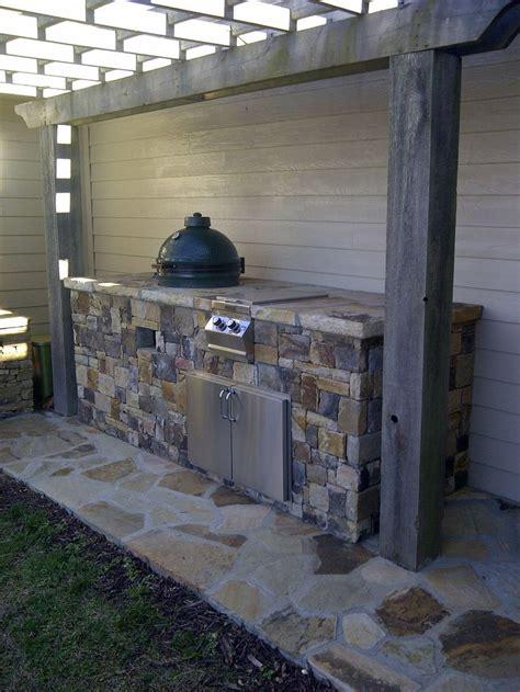 outdoor kitchen  big green egg  double side burner