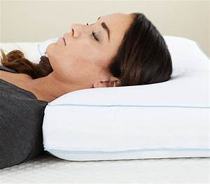 Cool sleep ventilated gel memory foam gusseted pillow for Coolest pillow to sleep on