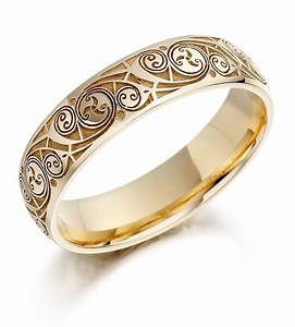 Quick view for celtic wedding ring ladies gold celtic for Celtic inspired wedding rings