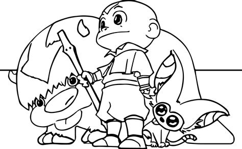 appa coloring pages coloring pages