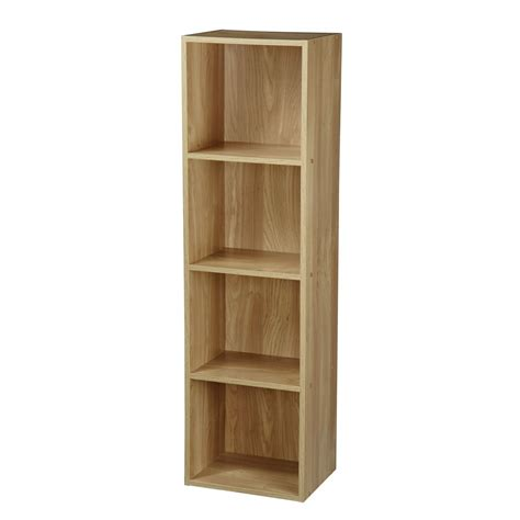 Wooden Bookcase by 2 4 Tier Wooden Bookcase Shelving Bookshelf Storage