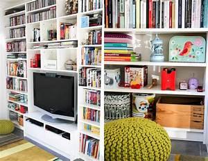 Bibliothèque Ikea Blanche : avant apr s notre biblioth que meuble t l ikea monday deco accumulation plafond et objet ~ Preciouscoupons.com Idées de Décoration