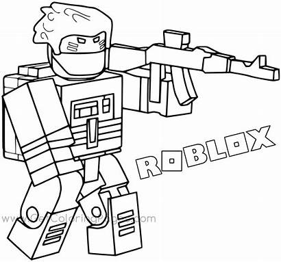 Roblox Pages Coloring Bandit Colouring Printable Noob