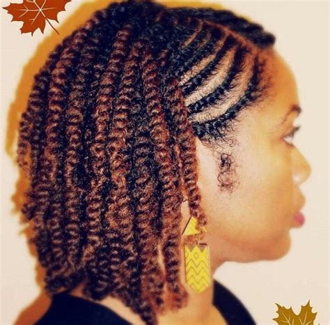 Black Hairstyles With Twists In The Front by Twostrand Twist Side View Protective Styles