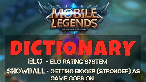 Mobile Legends Dictionary Terminologies And Abbreviations