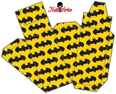 batman gift box template super heroes free printable boxes batman party