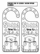 Door Knob Cards Cut Read Teacherspayteachers Subject Coloring sketch template