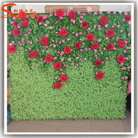 artificial wreaths cheap china supplier artificial flower backdrop silk flower wall