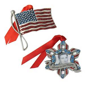 patriotic christmas ornaments holly jolly holidays