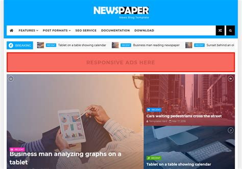Newspaper News Blogger Template • Blogspot Templates 2019