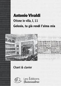 Vivaldi : Gelosia (Ottone in villa), chant et clavier ...