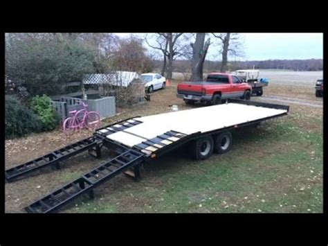 deckover trailer  paint deck youtube