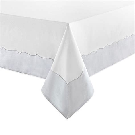 white oval tablecloth buy waterford 174 linens cassia 70 inch x 126 inch oblong 1055