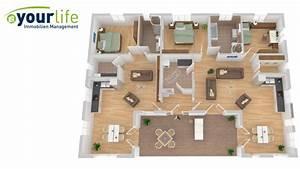 Wohnzimmer Selber Planen : grundriss bungalow 5 zimmer 3d ~ Sanjose-hotels-ca.com Haus und Dekorationen