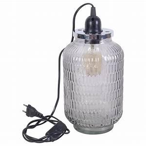 Lampe Industrielle A Poser : lampe poser style industrielle demeure et jardin ~ Teatrodelosmanantiales.com Idées de Décoration