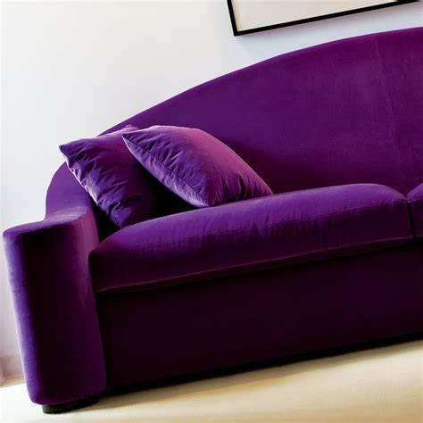 Purple Contemporary Sofa contemporary italian purple velvet sofa