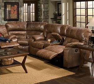 rustic reclining sofa thesofa With rustic sectional sofas with recliners