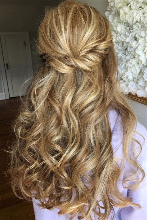 bridal hairstyles partial updo wedding