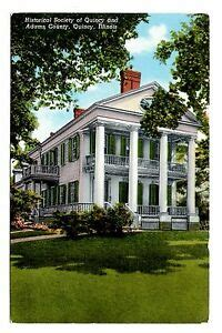 quincy illinois postcard historical society adams county