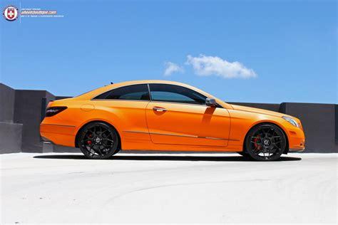 orange mercedes sunkist orange mercedes e coupe on hre wheels