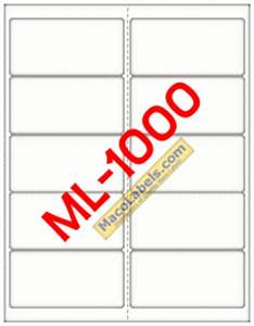 maco ml 1000 ml 1000 ml1000 5163 laser inkjet label With maco label template