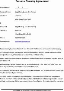 download personal training contract sample for free With personal trainer client profile template